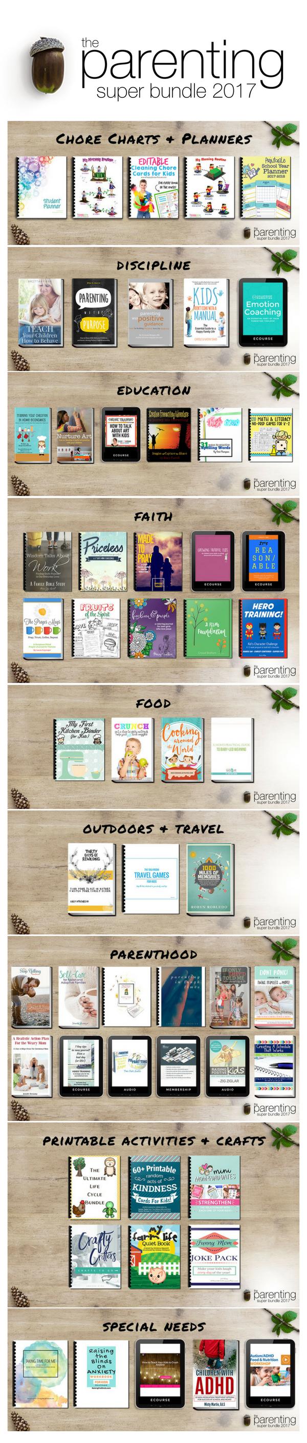 The Parenting Super Bundle Online Book List