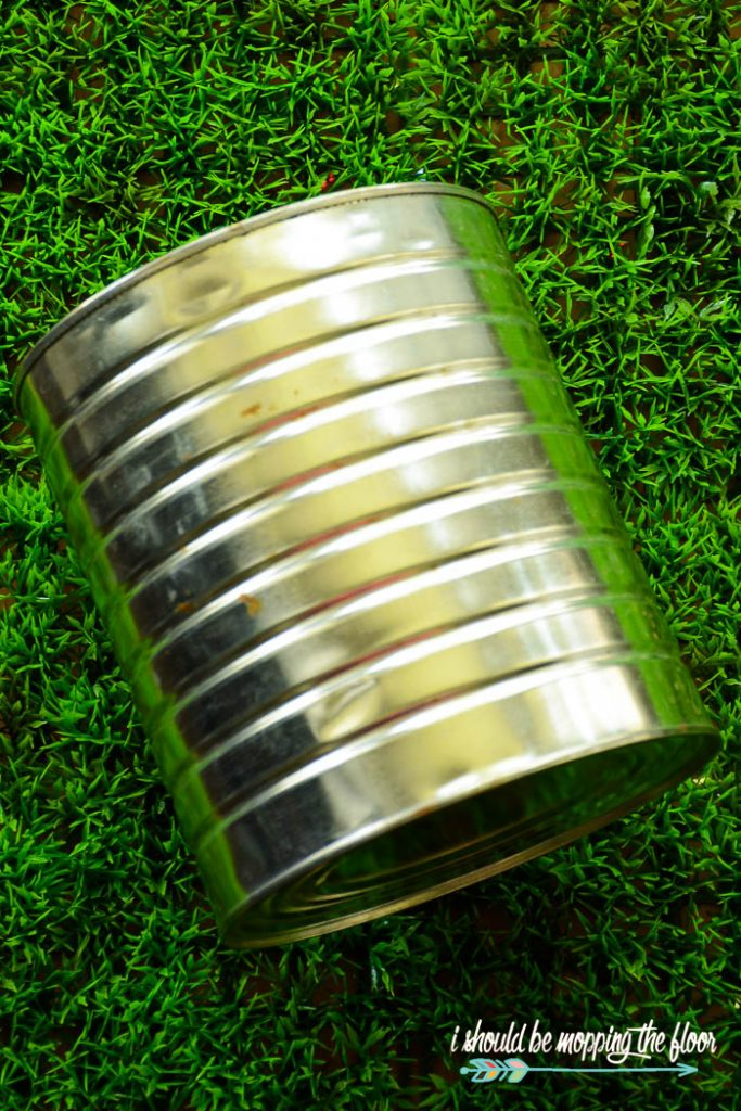 tin can on grass