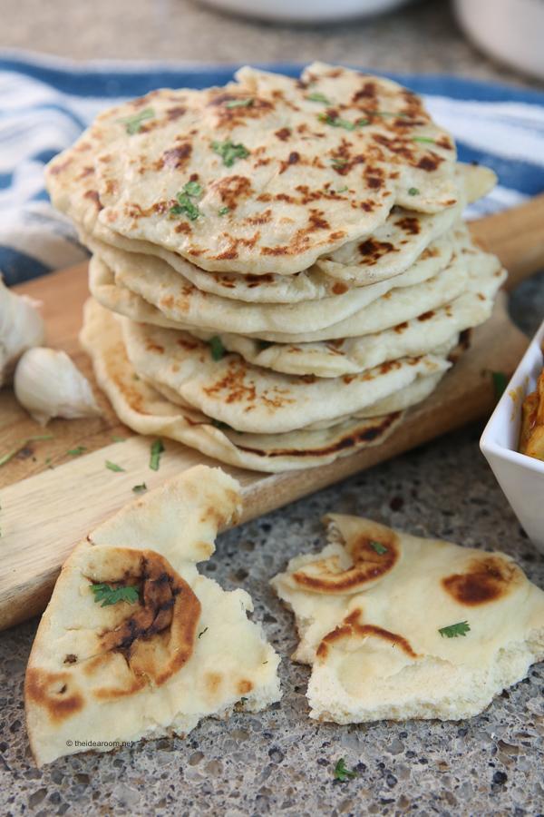 easy garlic naan bread recipe