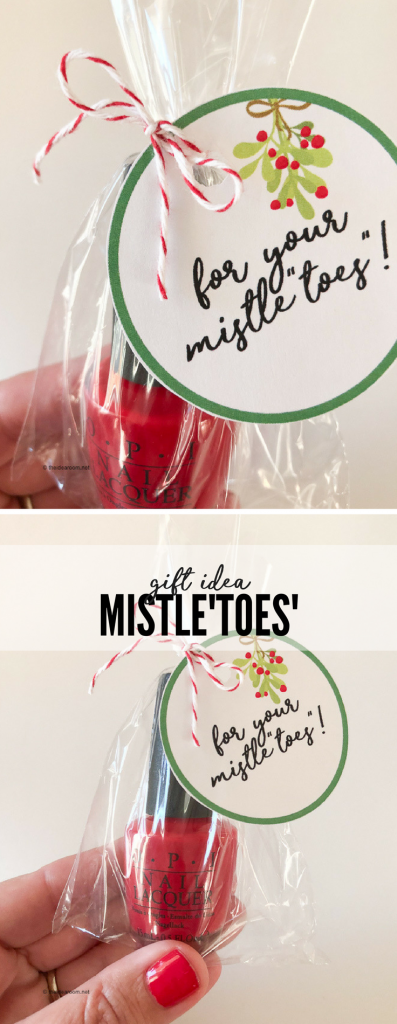 Christmas-Mistletoes-Nail-Polish-Gift -Tag-Idea