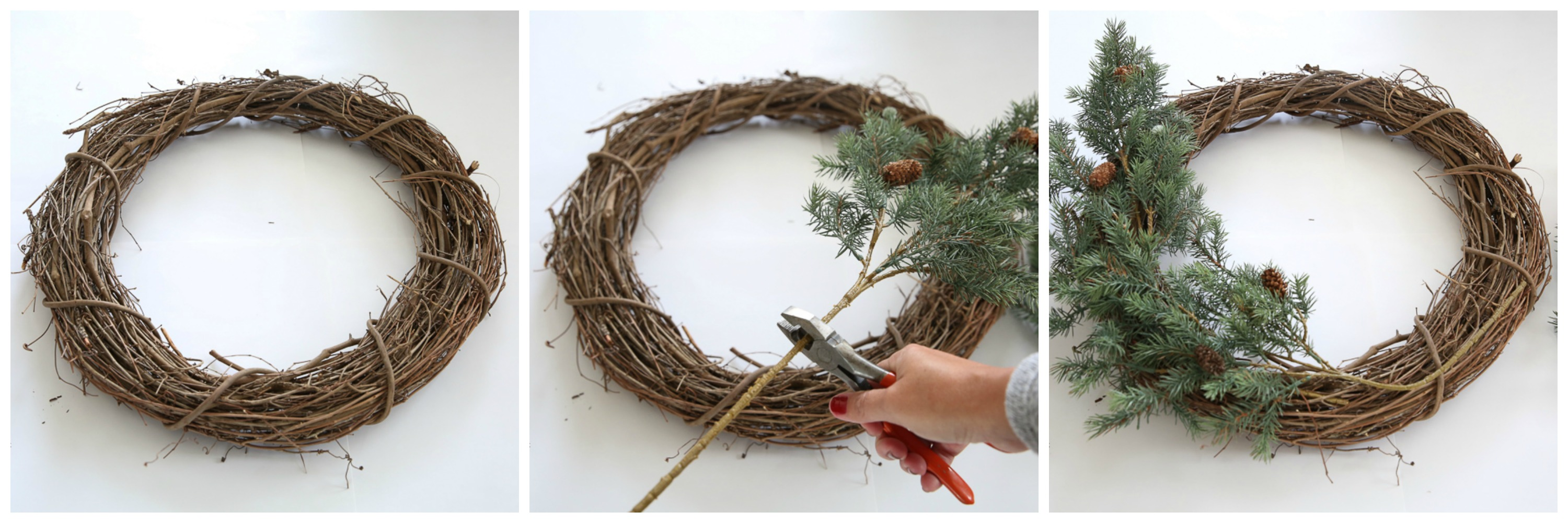 How To Make A Rustic Farmhouse Wreath Step By Step Tutorial