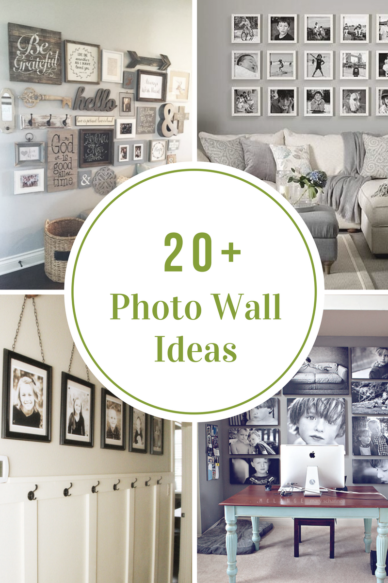 Photo wall ideas and inspiration - Photo decoration on wall ...