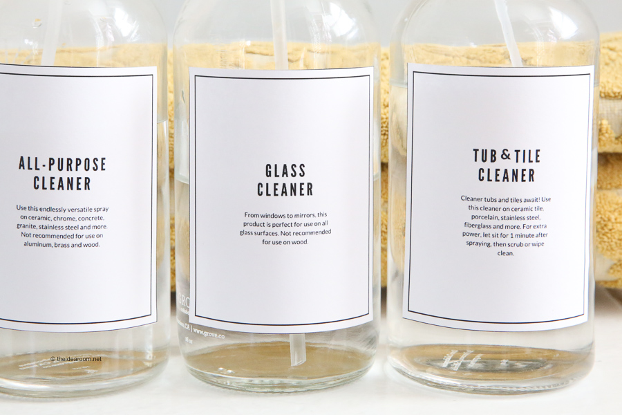 printable cleaning solutions labels