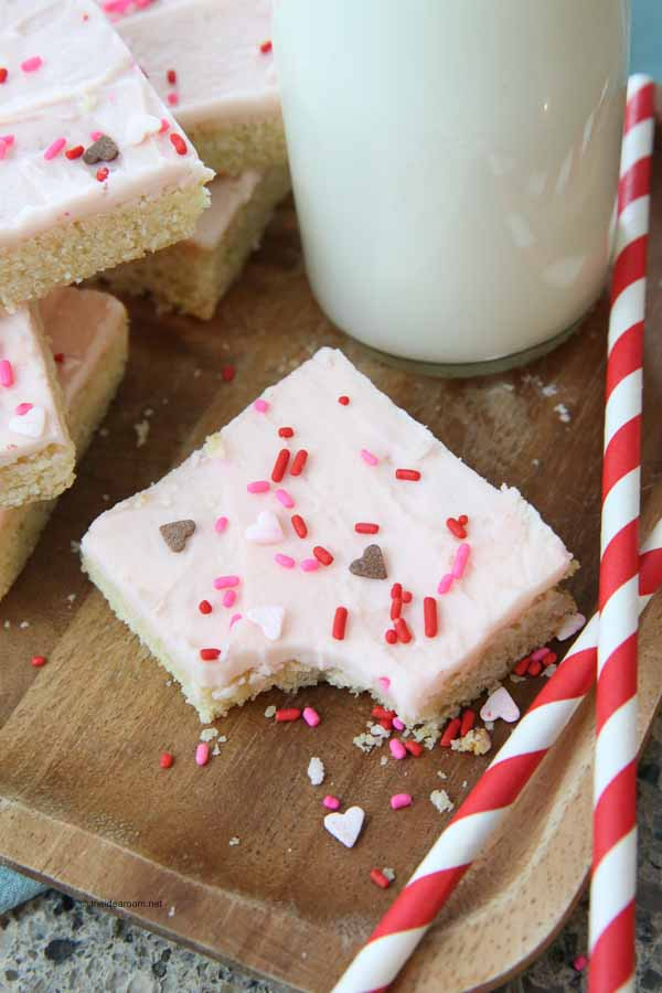 Sugar Cookie Bars Recipe With Buttercream Frosting