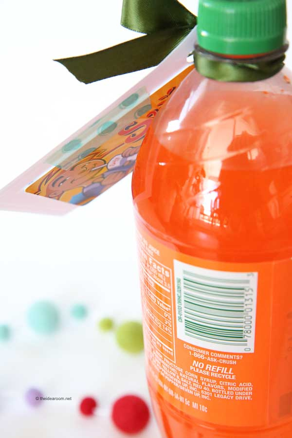 Orange Crush Soda Teacher Appreciation Gift and Free Printable #teacherappreciation #printable