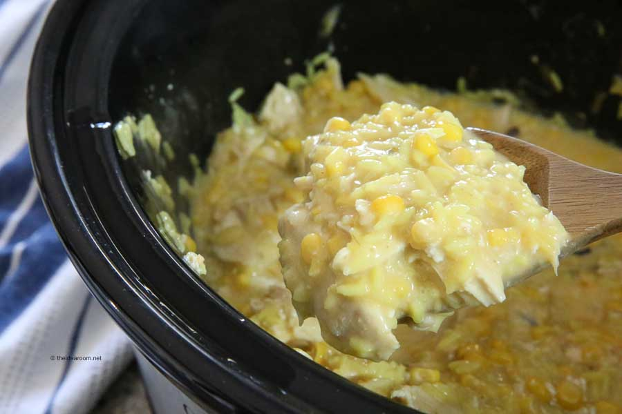 slow cooker cheesy chicken and rice recipe