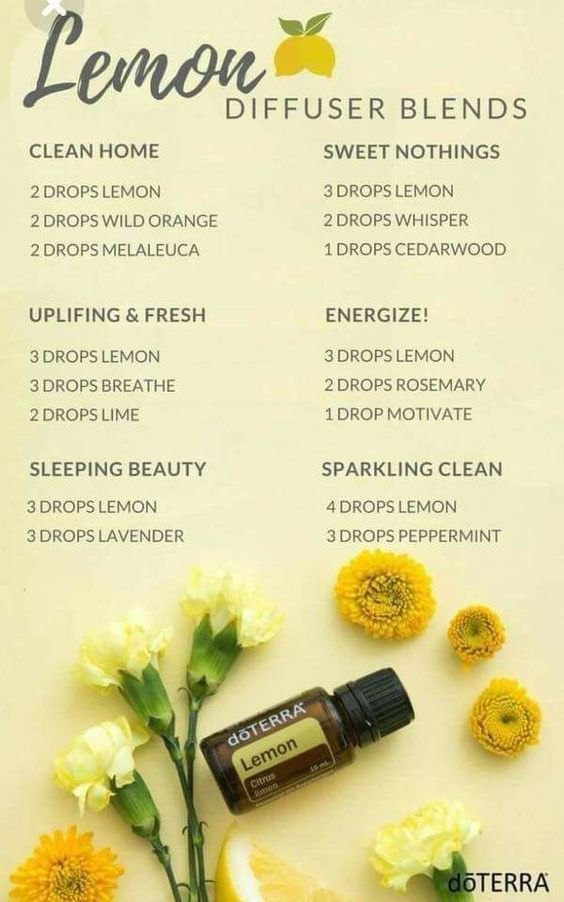 lemon essential oil diffuser recipes