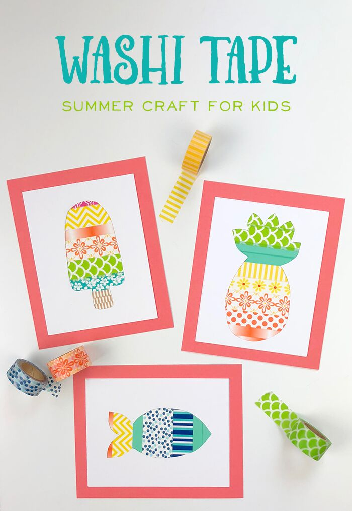 Check Out This Adorable Washi Tape Craft For Kids! So Easy...Its The Perfect Kids Craft!