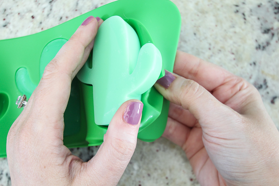 Green Silicone Cactus Soap Molds