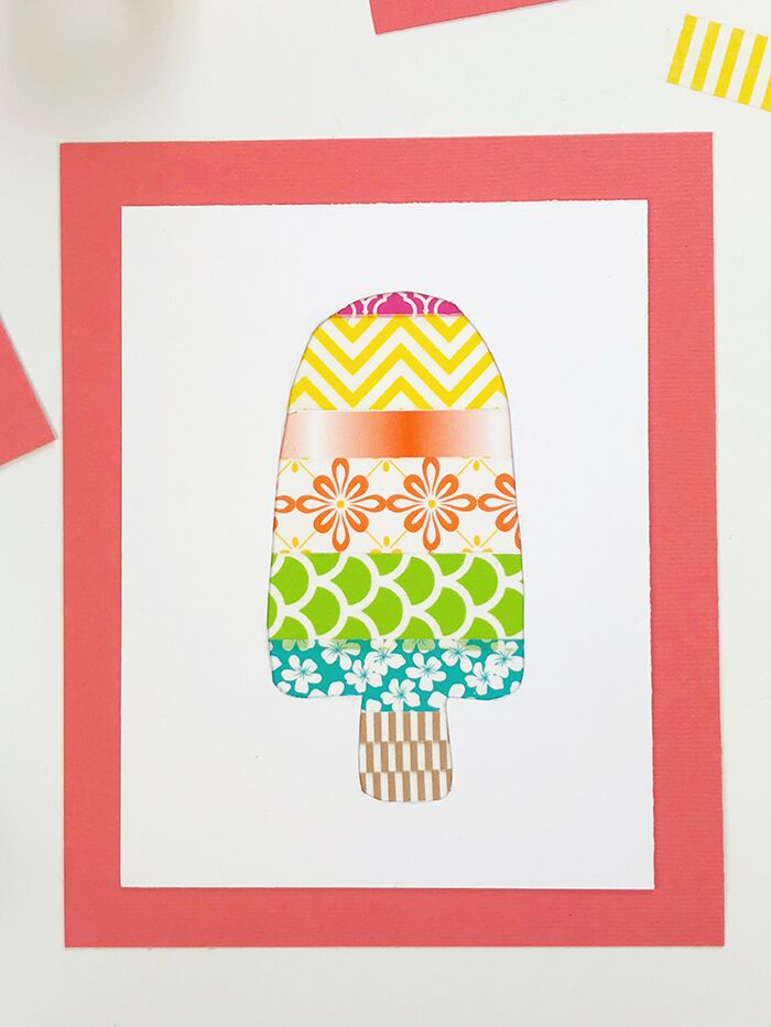 Washi Tape Popsicle Picture