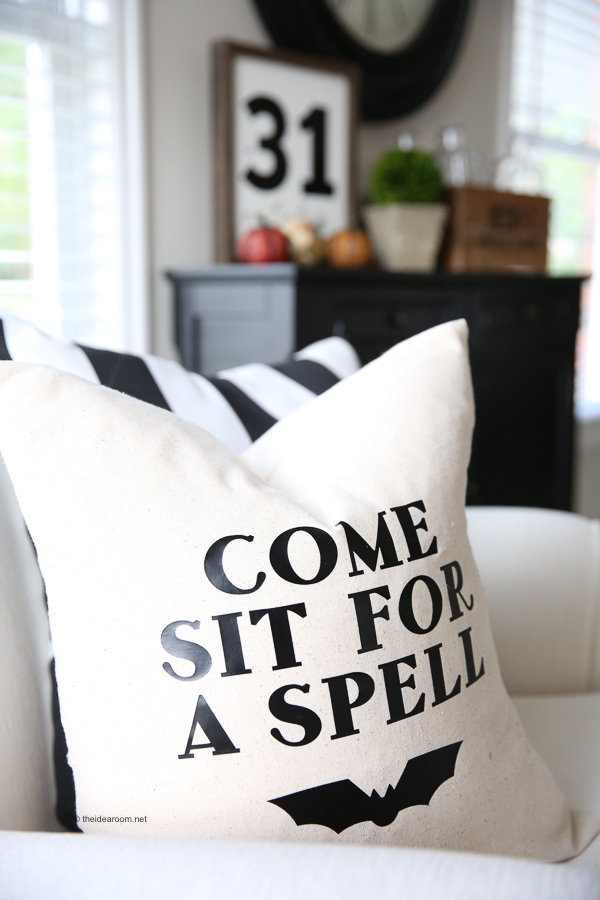 Come Sit For A Spell Diy Pillow