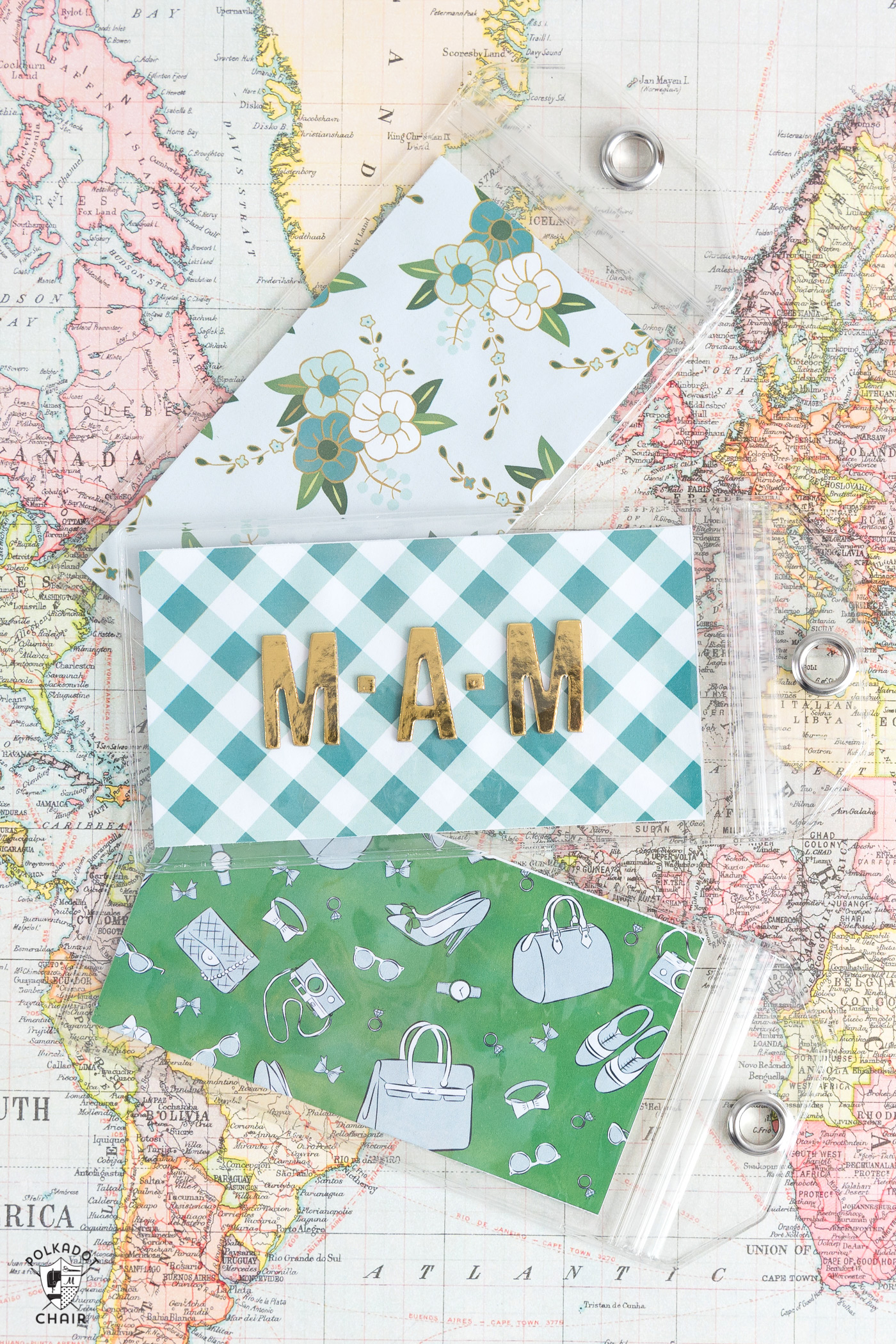 photograph relating to Printable Luggage Tags called Do-it-yourself Baggage Tags - The Strategy Place