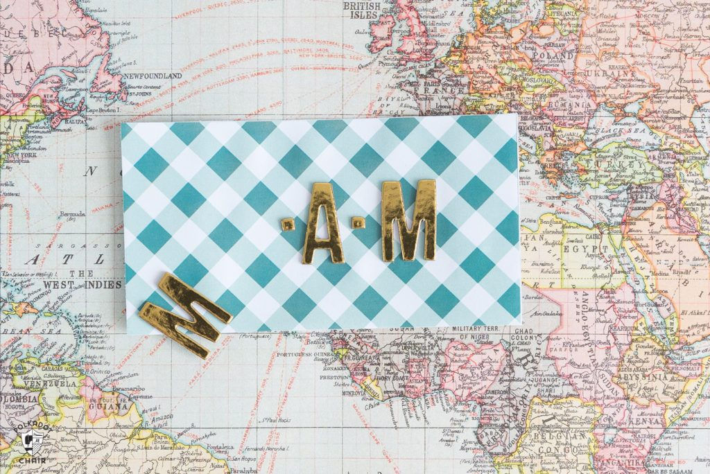 DIY Luggage Tags, stickers and cardstock paper