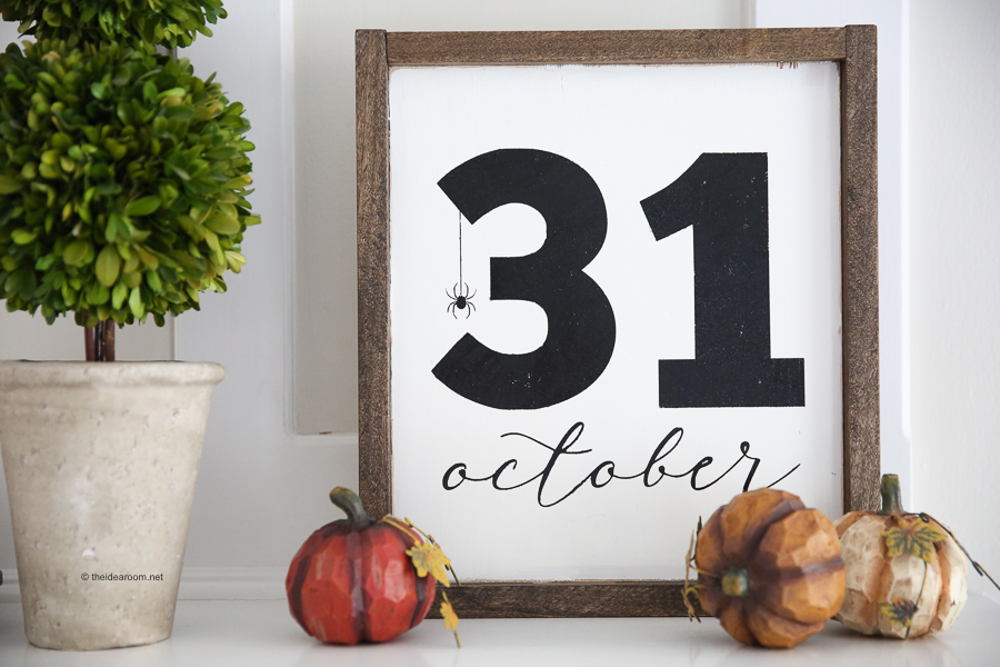 Looking For Some Halloween Decorations For Your Home This Halloween? Check Out How We Made Our Halloween DIY Sign So You Can Make A Halloween Sign Too.