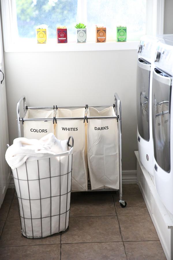 Laundry Room Basket Organization