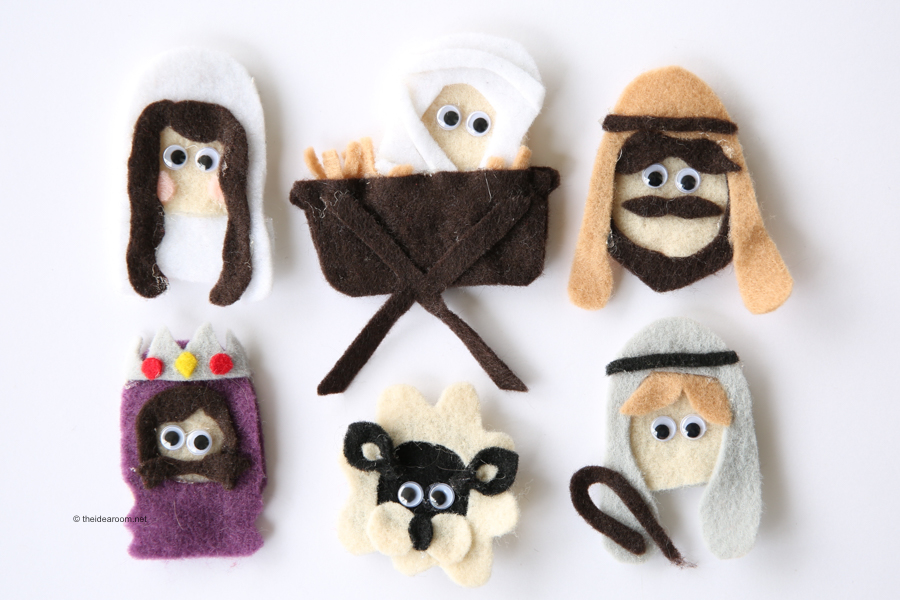 nativity finger puppet patterns