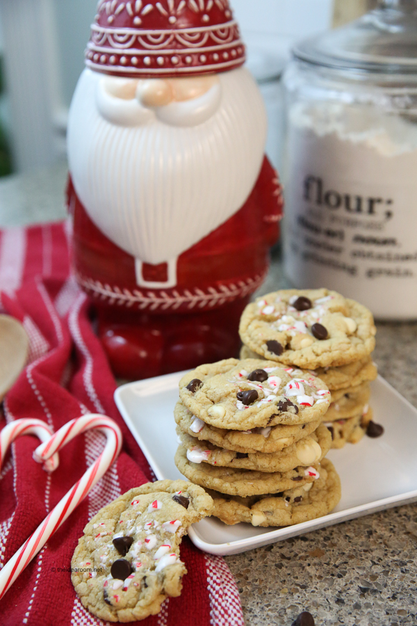 christmas cookies, peppermint cookies