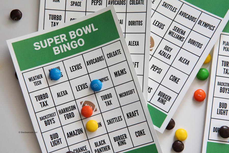 photograph regarding Printable Super Bowl Bingo Cards identified as Tremendous Bowl Bingo - The Principle Space