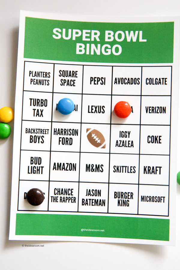 picture relating to Printable Super Bowl Bingo Cards known as Tremendous Bowl Bingo - The Notion House