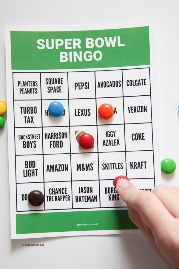 picture about Printable Super Bowl Bingo Cards referred to as Tremendous Bowl Bingo - The Concept House