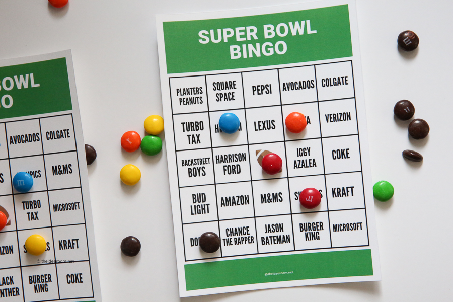 picture regarding Printable Super Bowl Bingo Cards named Tremendous Bowl Bingo - The Principle Area