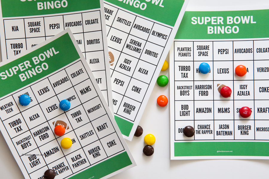 photograph relating to Printable Super Bowl Bingo Cards named Tremendous Bowl Bingo - The Strategy House