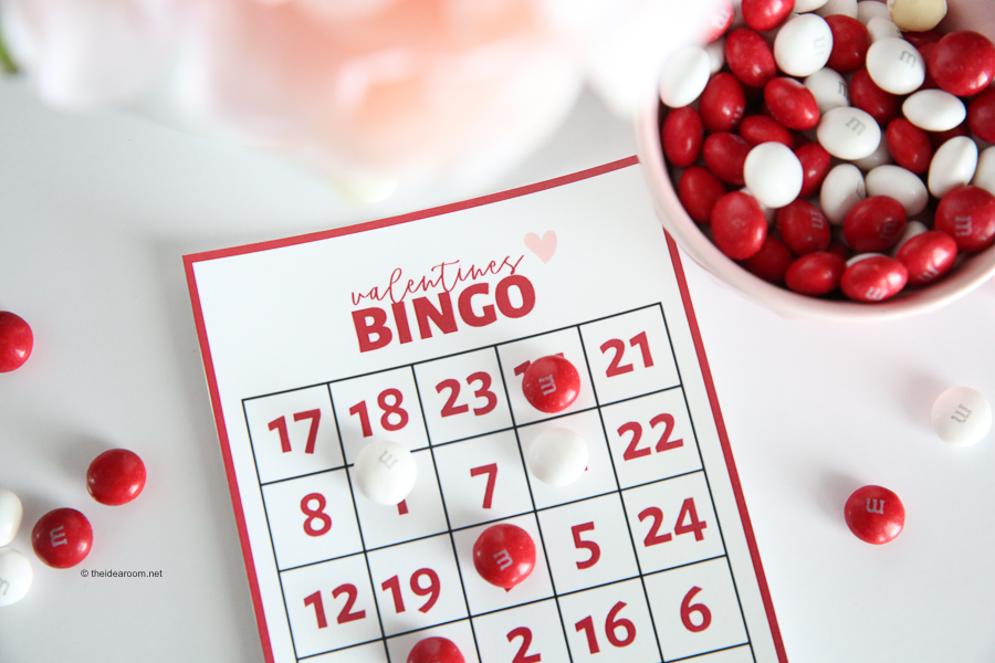 image about Printable Valentine Bingo Card called Valentine Bingo - The Notion House