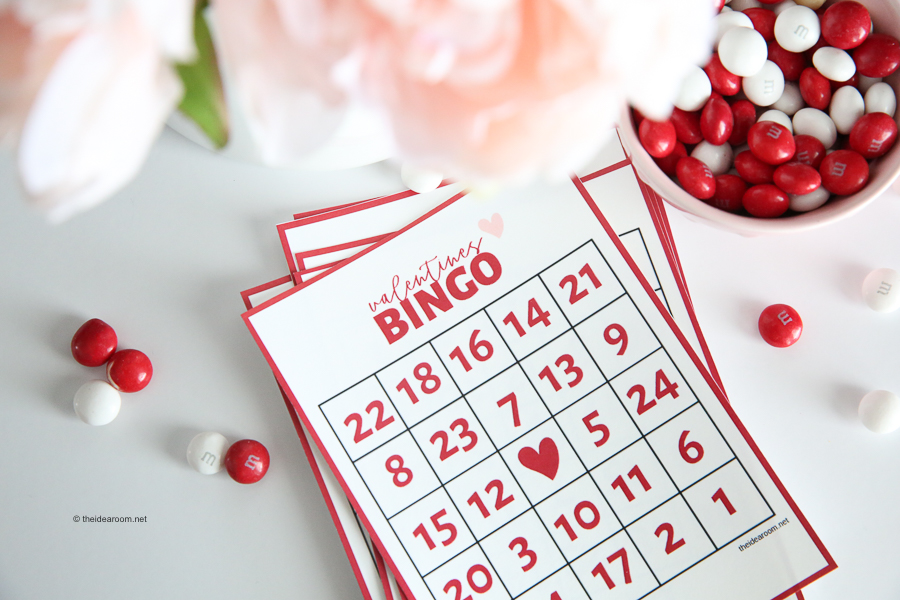 graphic about Valentine Bingo Free Printable known as Valentine Bingo - The Strategy Space