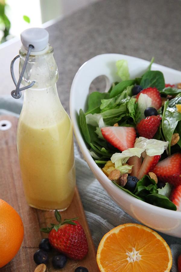 Orange Vinaigrette Dressing With Citrus Berry Salad The Idea Room
