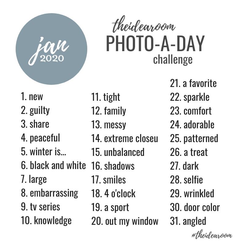 January Photo Challenge 2020 The Idea Room